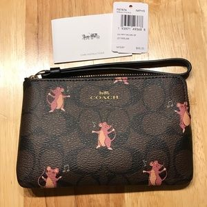 Coach Party Mouse Print Wristlet ✨NWT✨